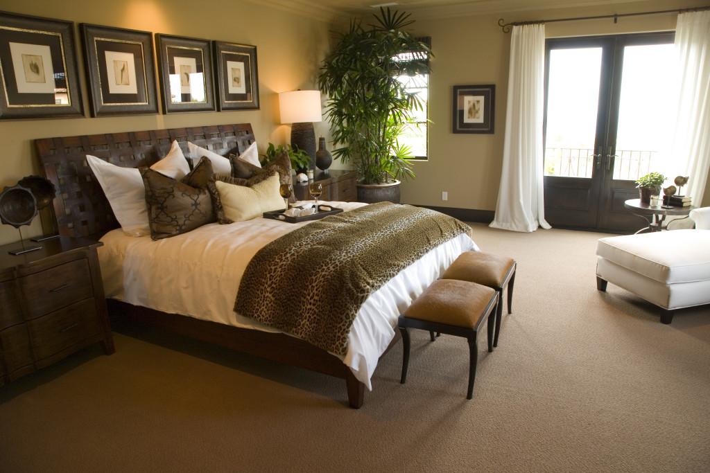 Sypialnia w stylu afrykańskim