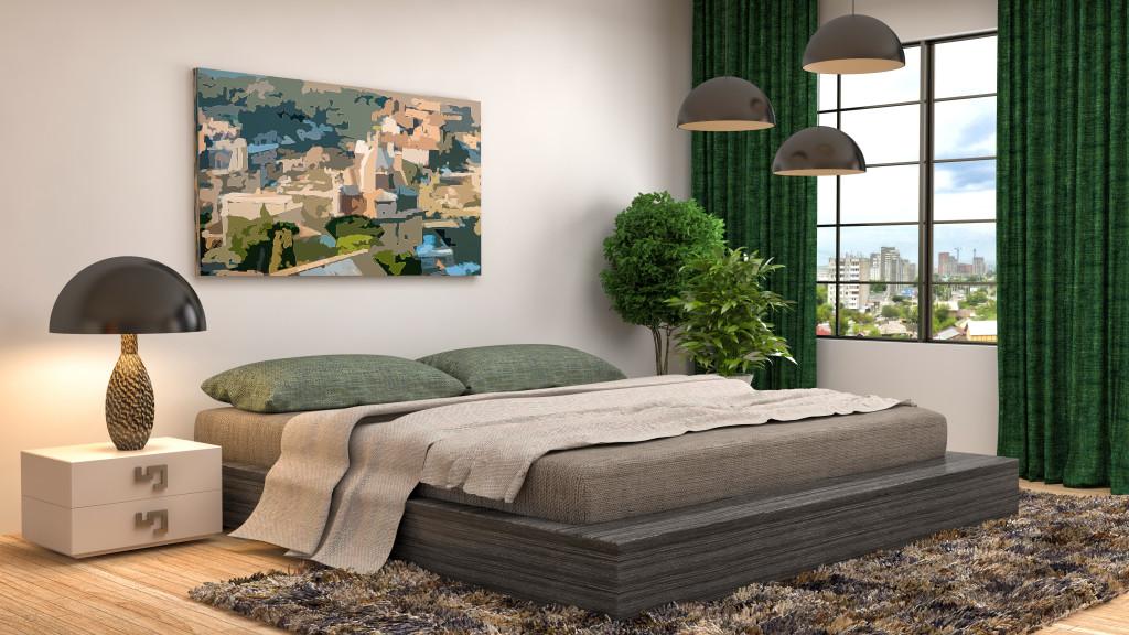 Sypialnia w odcieniach szarości