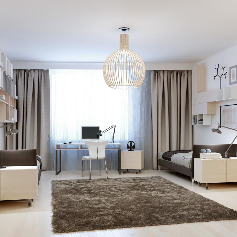 Salon i sypialnia w jednym pomieszceniu
