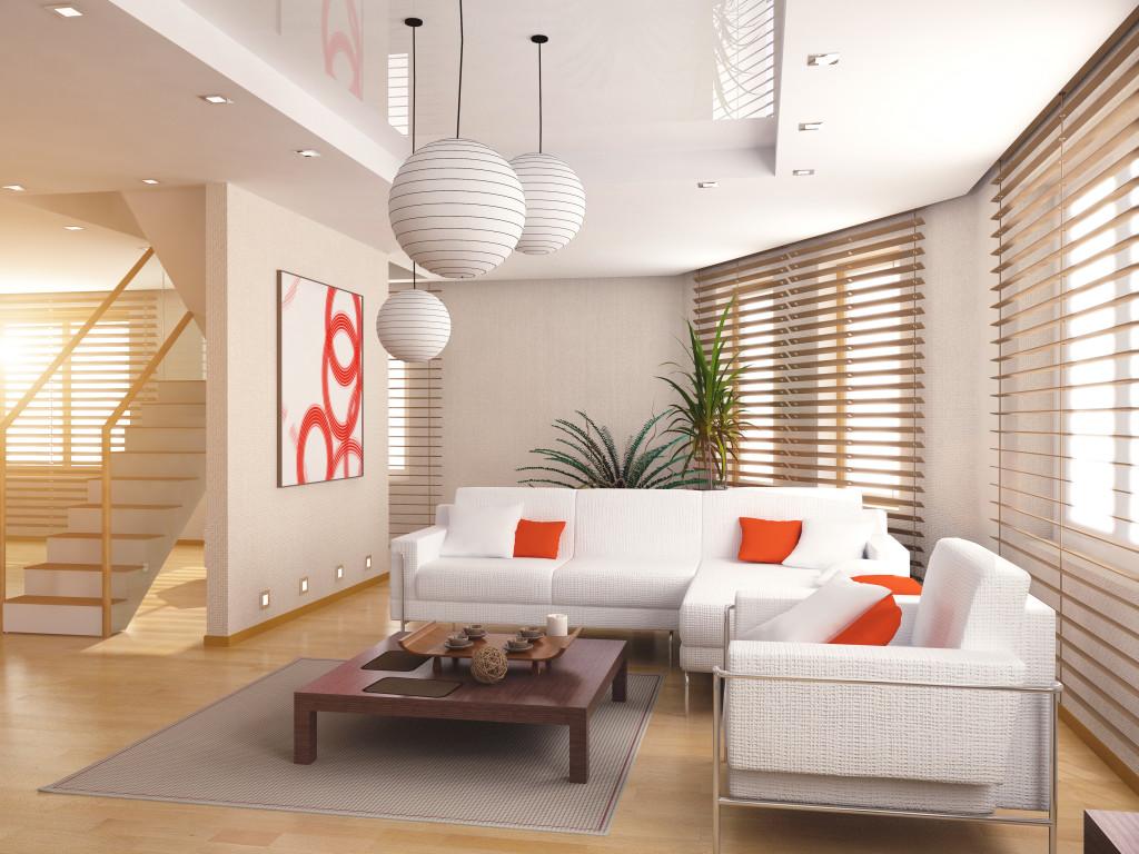 Powieszany sufit w salonie