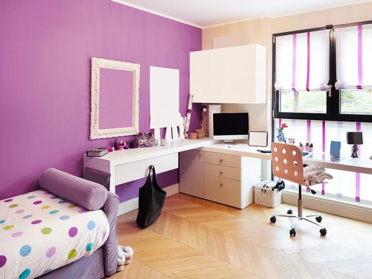 Sypialnia z miejscem do pracy sypialnia nastolatki