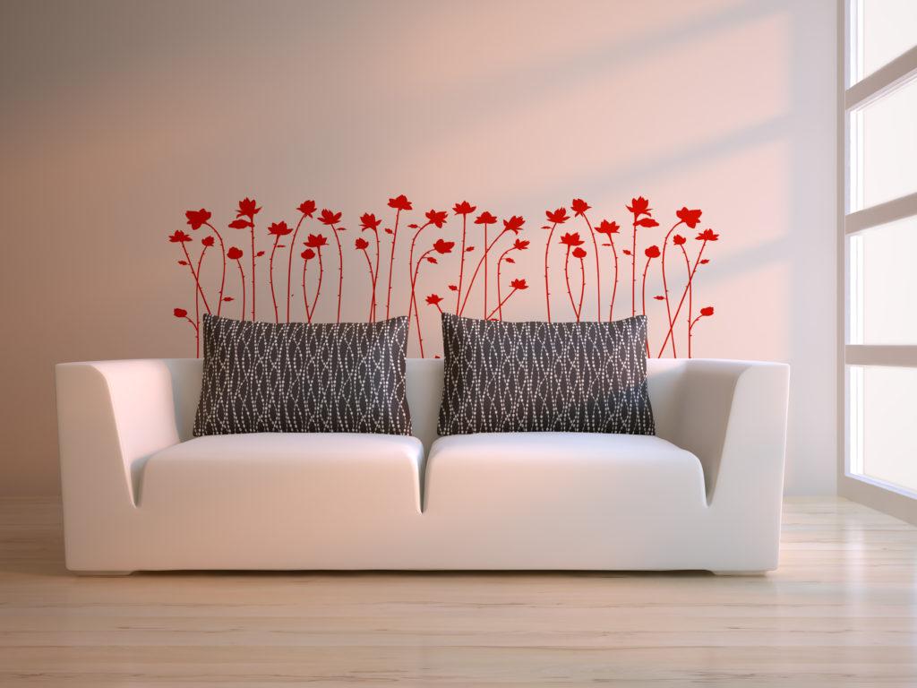 à modern 3d interior composition