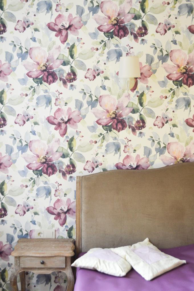 the elegant bedroom interior detail